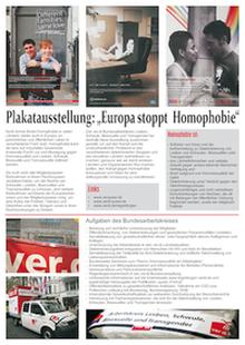 Ausstellung Europa stoppt Homophobie
