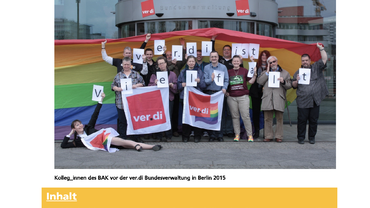 Queer in ver.di 29/2019 Titel