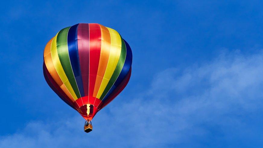 Regenbogen Ballon