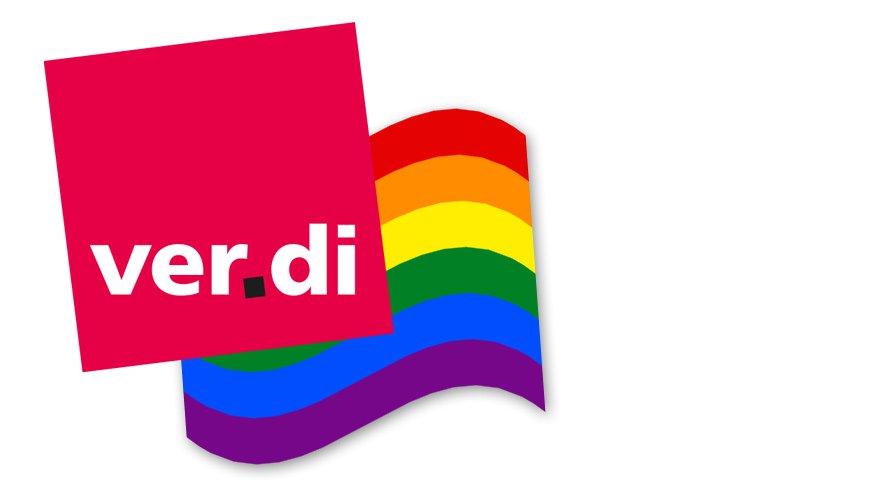 ver.di Regenbogen Symbol