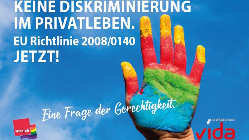 Keine Diskriminierung im Privatleben, EU Richtlinie 2008/0140 endlich umsetzen